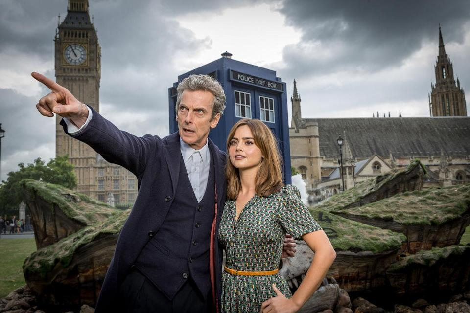 Peter Capaldi as the Doctor and Jenna Coleman as his assistant, Clara Oswald, in 'Doctor Who' (BBC)
