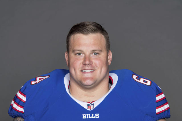 "FILE - This is a 2017 file photo showing Richie Incognito of the Buffalo Bills NFL football team. Bills offensive lineman Richie Incognito texts The Associated Press he's ""done,"" amid reports he is considering retirement after 11 NFL seasons. Incognito followed up the text on Tuesday, April 20, 2018, with a laughing-face emoji and did not respond to further questions seeking clarification. (AP Photo/File)"