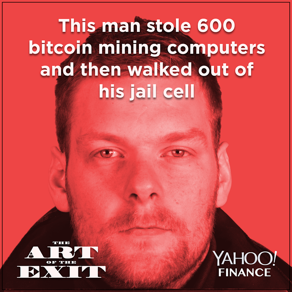 This Oct. 15, 2014 photo made available by The Reykjavík Metropolitan Police shows Sindri Thor Stefansson. Icelandic police have informed their Swedish colleagues that a man suspected of masterminding the theft of about 600 computers used to mine bitcoins and other virtual currencies, likely fled to Sweden after a prison break, officials said Wednesday April 18, 2018. (Credi: The Reykjavík Metropolitan Police via AP)