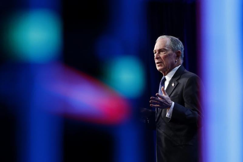 Democratic presidential candidate, former New York City Mayor Michael Bloomberg speaks at the U.S. Conference of Mayors Winter Meeting, Wednesday, Jan. 22, 2020, in Washington. (Photo: Patrick Semansky/AP)