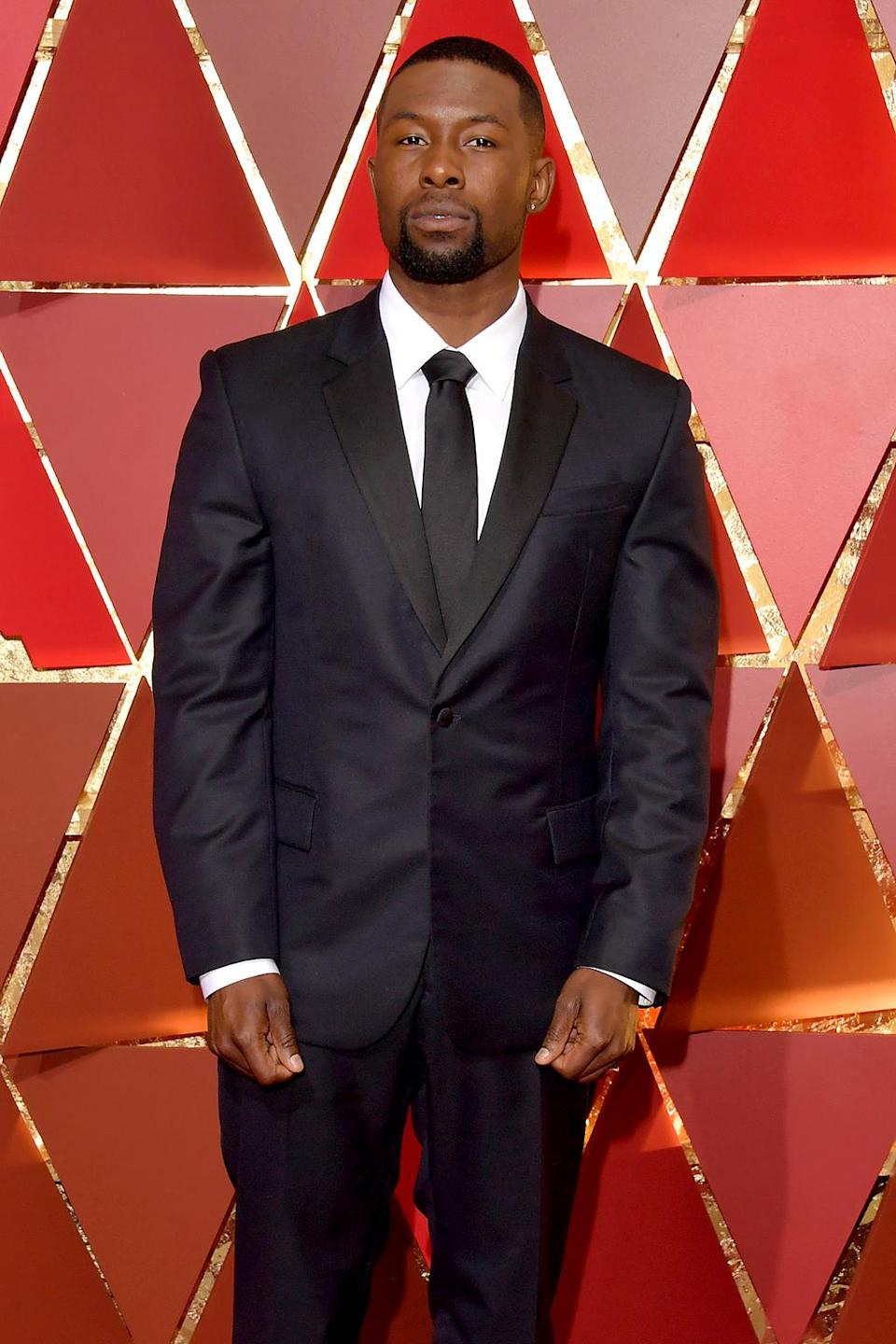 <p>Actor Trevante Rhodes attends the 89th Annual Academy Awards at Hollywood & Highland Center on February 26, 2017 in Hollywood, California. (Photo by Lester Cohen/WireImage) </p>