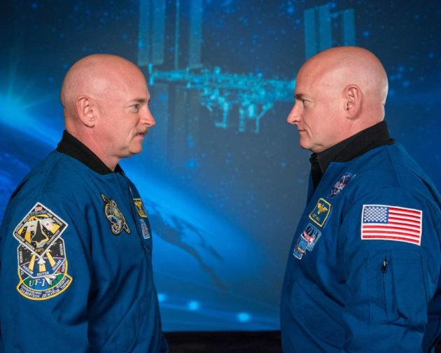 """The genetic and health profiles of Mark Kelly and Scott Kelly were compared during a """"Twins Study"""" focusing on the effects of long-term spaceflight. (NASA Photo)"""