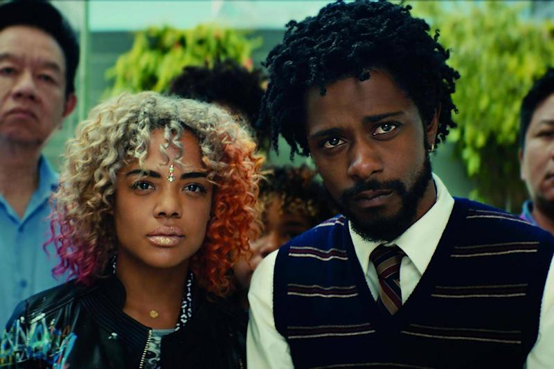 Tessa Thompson and Lakeith Stanfield in 'Sorry to Bother You' (Universal Pictures)