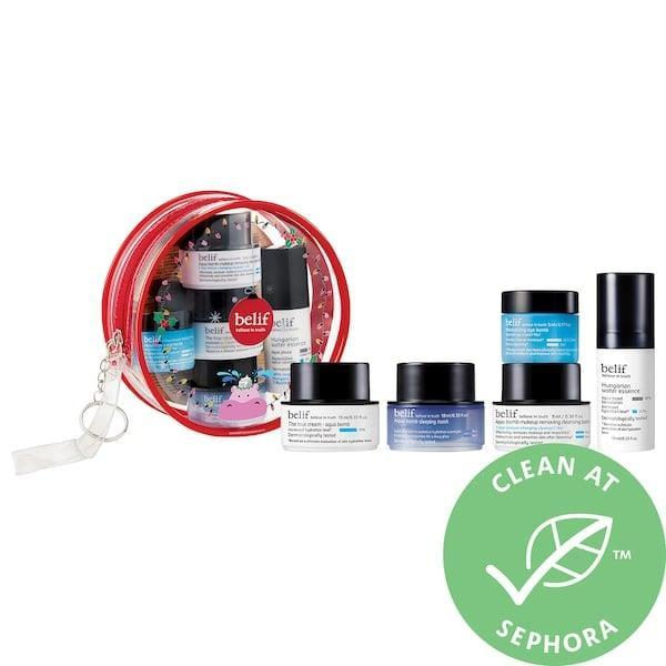 <p>There's a total new beauty routine all packed inside, and since this <span>Belif Glowy Holidays Kit</span> ($23) helps banish dry, dull skin for weeks to come, we'll call it a gift that keeps on giving. </p>