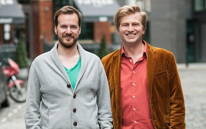TransferWise chairmanTaavet Hinrikus (left) said that he sees no risk to the company from Brexit - Steve Stills