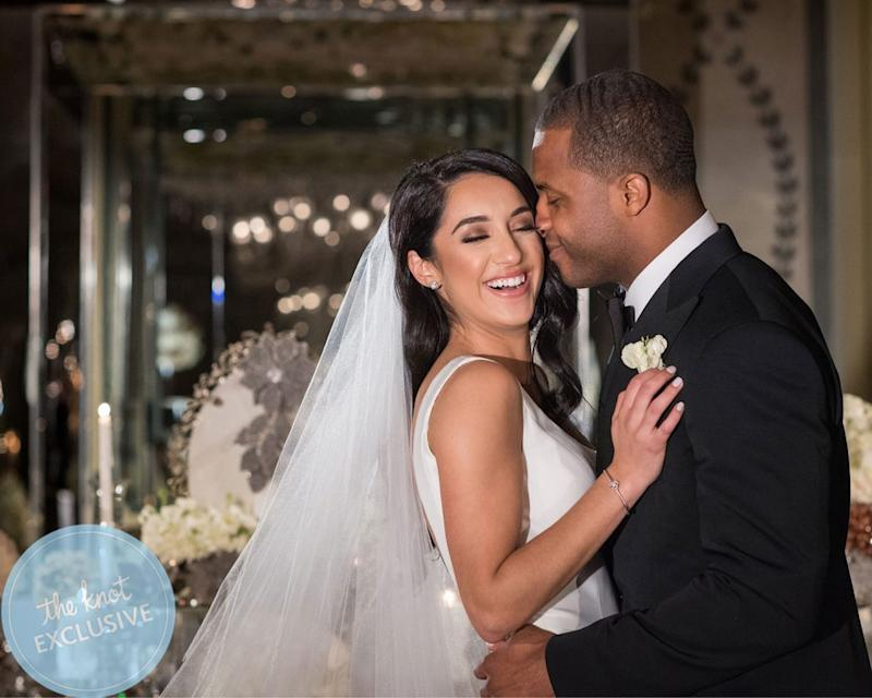Aiyda and Randall Cobb Wedding, New York City, April 2017. (Credit: Brian Marcus / Fred Marcus Studio)