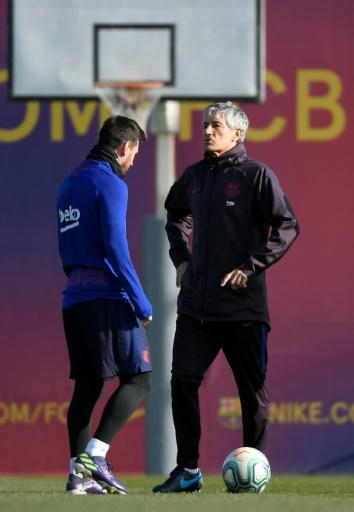 Barcelona's new coach Quique Setien has said he wil 'cry forever' when Lionel Messi retires