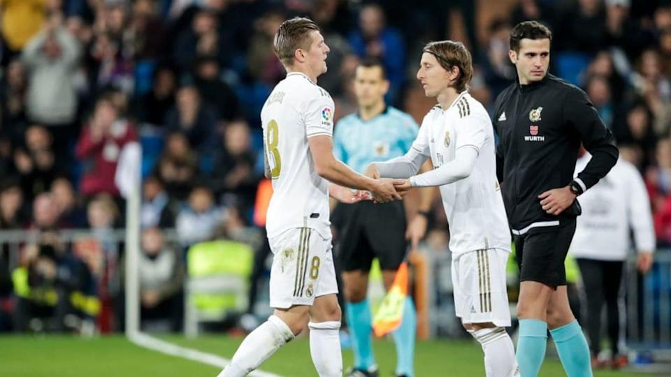 Toni Kroos y Luka Modric | Soccrates Images/Getty Images