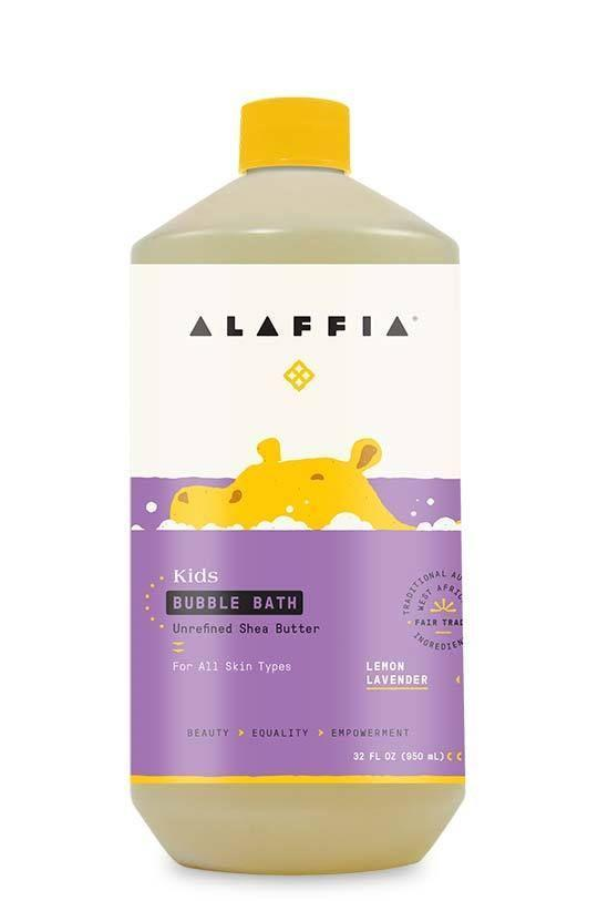 """<p><strong>Alaffia</strong></p><p>alaffia.com</p><p><strong>$14.99</strong></p><p><a href=""""https://www.alaffia.com/products/babies-kids-shea-bubble-bath-lemon-lavender"""" rel=""""nofollow noopener"""" target=""""_blank"""" data-ylk=""""slk:Shop Now"""" class=""""link rapid-noclick-resp"""">Shop Now</a></p><p>This certified organic and fair trade unrefined bubble bath from Alaffia cooperatives in West Africa is good for baby skin and goes to a good cause. </p>"""