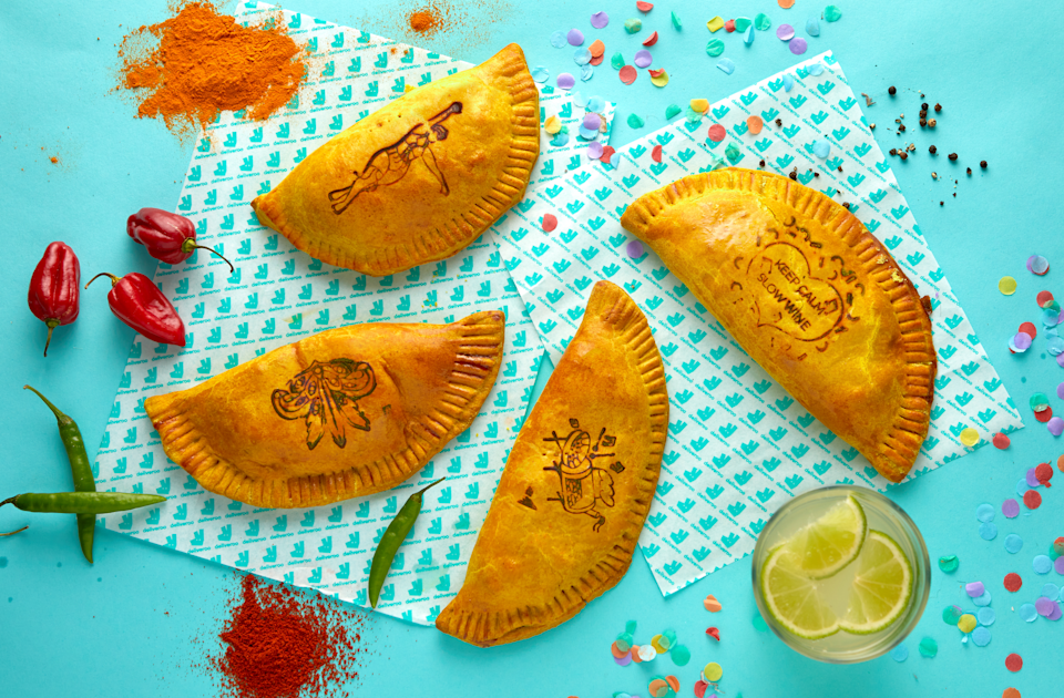 The Jamaican patties will be available in parts of Manchester and London over the bank holiday weekend (Deliveroo)