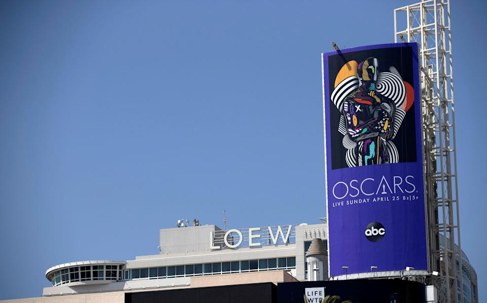 An Oscars billboard is pictured by the Hollywood and Highland complex ahead of the 93rd Academy Awards in Los Angeles, California, U.S., April 20, 2021.  REUTERS/Mario Anzuoni (Photo: MARIO ANZUONI via REUTERS)
