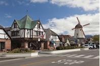"<p>Solvang, California is known as ""The Danish Capital of America."" Mission Drive, the town's Main Street, is even home to a Dutch windmill. </p>"