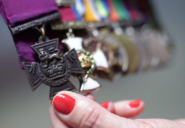 A set of medals that were awarded to Vice-Admiral Gordon Campbell (PA)