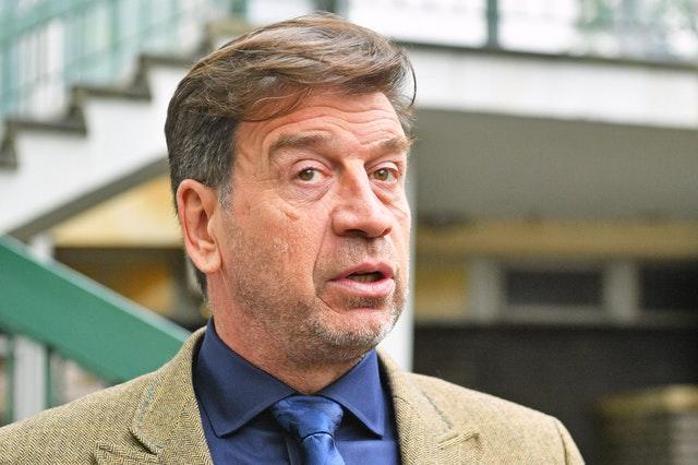 Nick Knowles speaks to media outside Cheltenham Magistrates' Court (Ben Birchall/PA)