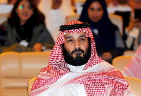 FILE PHOTO: Saudi Crown Prince Mohammed bin Salman attends the Future Investment Initiative conference in Riyadh, Saudi Arabia October 24, 2017. REUTERS/Hamad I Mohammed/File Photo