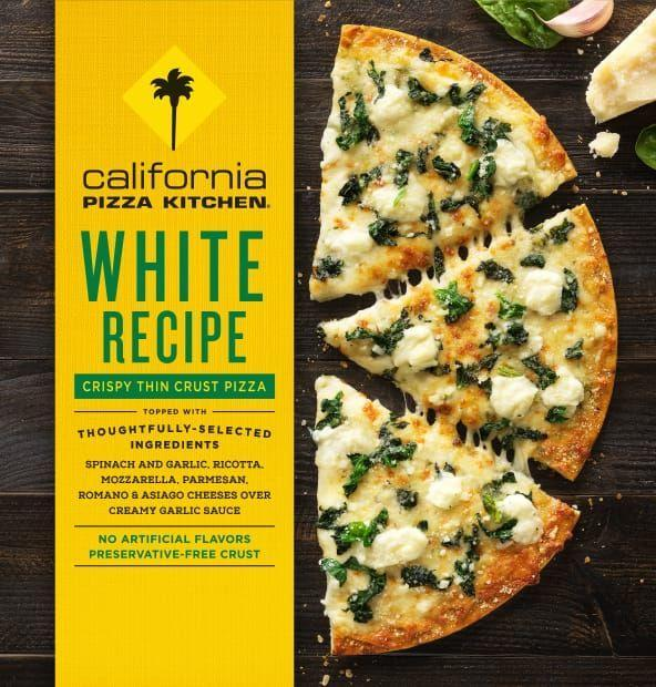 """<p>One of our tasters described this pie as """"light and slightly tangy,"""" which is spot-on. This thin (again, in a flatbread-esque style) pizza has a slight Alfredo sauce taste that takes it a little further than your basic white pizza—and even further than your average frozen pizza. </p><p><strong><a class=""""link rapid-noclick-resp"""" href=""""https://www.target.com/p/california-pizza-kitchen-crispy-thin-crust-white-frozen-pizza-12/-/A-13429192"""" rel=""""nofollow noopener"""" target=""""_blank"""" data-ylk=""""slk:BUY NOW"""">BUY NOW</a><em> $7, California Pizza Kitchen White Pizza, target.com</em></strong><br></p>"""