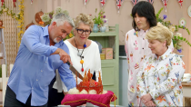 """<p>All bakers have early mornings while filming. """"We had to get a train down on the Friday and we'd have a wake up call at 5 a.m., we'd be in the tent at 7 a.m.,"""" contestant Frances Quinn told <em><a href=""""https://www.cosmopolitan.com/uk/entertainment/a46380/great-british-bake-off-tent-things-you-didnt-know/"""" rel=""""nofollow noopener"""" target=""""_blank"""" data-ylk=""""slk:Cosmopolitan UK"""" class=""""link rapid-noclick-resp"""">Cosmopolitan UK</a>.</em></p>"""