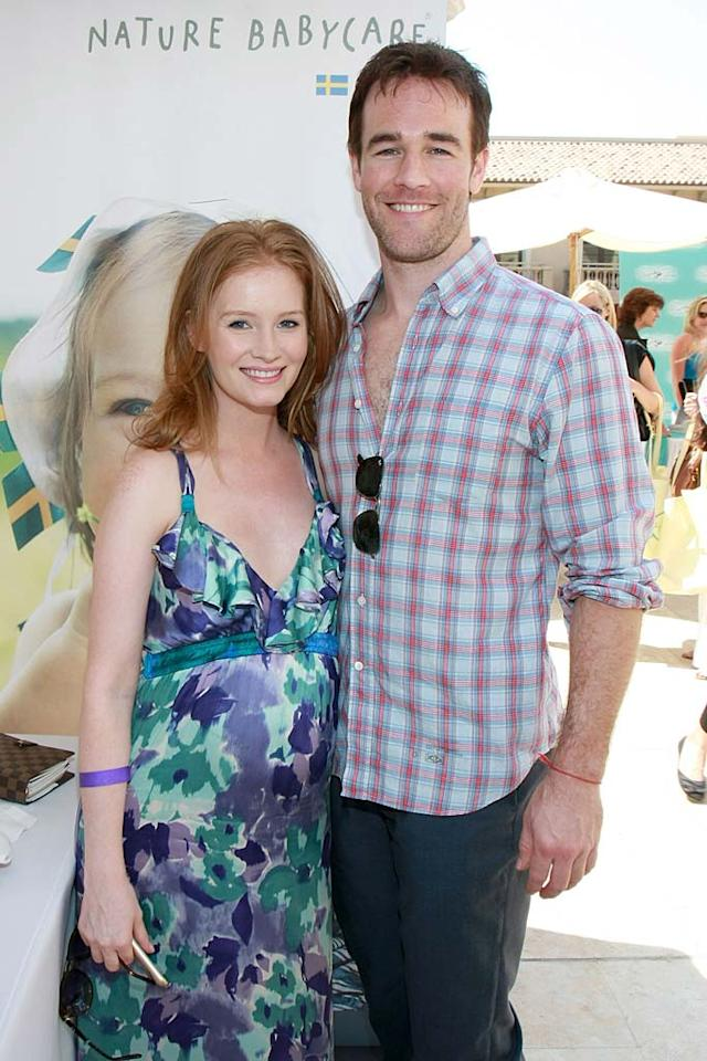 """Dawson wasted no time in finding his storybook romance! After a divorce from his first wife, actress Heather McComb, became official in March 2010, actor James Van Der Beek married an expectant Kimberly Brook on August 1. They welcomed their bundle of joy -- a girl named Olivia -- on September 25. Anna Webber/<a href=""""http://www.wireimage.com"""" target=""""new"""">WireImage.com</a> - June 4, 2010"""