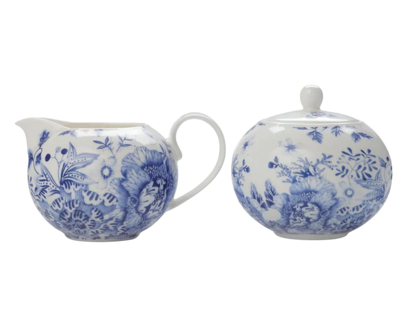 Maxwell & Williams Porcelain 2-Piece Sugar Bowl & Creamer Set. Image via Hudson's Bay.