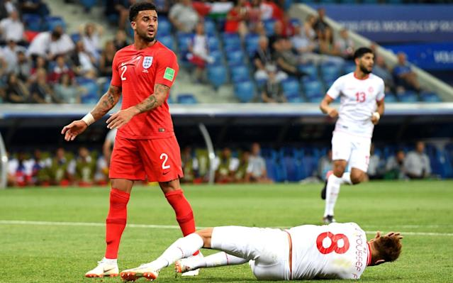 "England players have been left confused over how VAR will be used at the World Cup after their opening-game victory over Tunisia. Kyle Walker was penalised for a foul on Fakhereedine Ben Youssef in the penalty area by Colombian referee Wilmar Roldan and the decision was upheld by the Video Assistant Referee. But VAR was not consulted for at least two challenges on Harry Kane in the penalty area, which television replays suggested could have resulted in spot kicks. Fifa officials handed out pre-tournament instructions to all 32 World Cup teams over how VAR would work, together with warnings that grappling at set-pieces would be punished. But Walker has revealed that England players were unsure whether or not to appeal for or against VAR during the Tunisia game because of the threat of being booked. Tunisia 1 England 2 | Kane snatches winning World Cup start for Southgate's men Walker said: ""We've had a briefing, but what's correct and what's not? When do you ask for it? You don't want to crowd the referee and say 'VAR' because then it is a yellow card. ""I think you just have to let the referees get on with it and let them take the decisions. They have got a hard enough game as it is without putting any more confusion in it."" In terms of the penalty that was awarded against him, Walker added: ""It is one of those things that I am going to have to take on the chin. Would it have been given in the Premier League? Probably not. In the World Cup it is probably a penalty. ""It is a learning curve for me. Next time I will probably head it away and ask questions afterwards!"" England vs Tunisia Player ratings Asked about the use of VAR, England manager Gareth Southgate said: ""I think my observation would be that if it's a penalty at one end, it has to be a penalty at the other. That needs some review, I would say. ""We have to abide by it and leave it to the powers that be, but it's clear that if a foul is given against Kyle Walker then it has to be given for Harry being hauled to the ground."" World Cup 2018 