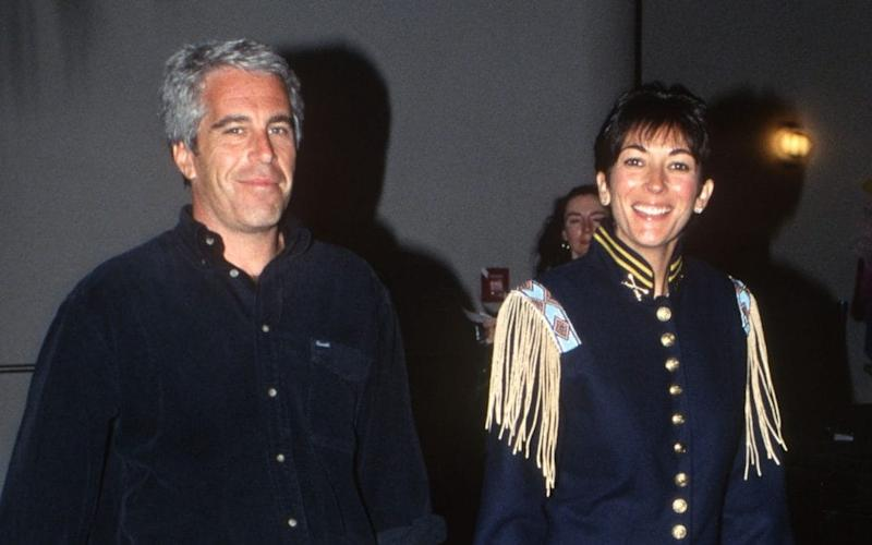 Jeffrey Epstein and Ghislaine Maxwell, pictured in 1995 - Patrick McMullan
