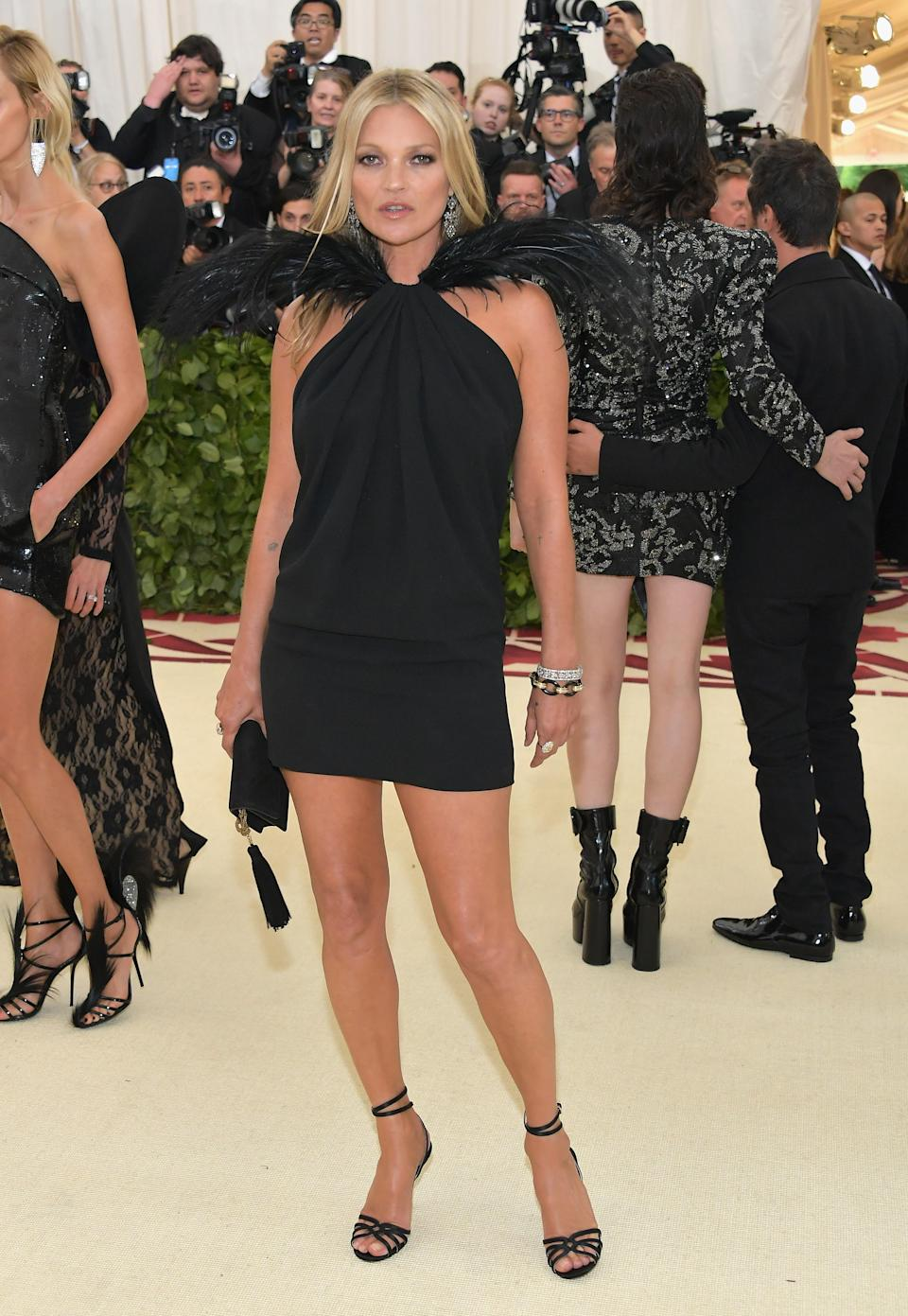 """<h1 class=""""title"""">Kate Moss in Saint Laurent by Anthony Vaccarello and Jimmy Choo shoes</h1><cite class=""""credit"""">Photo: Getty Images</cite>"""