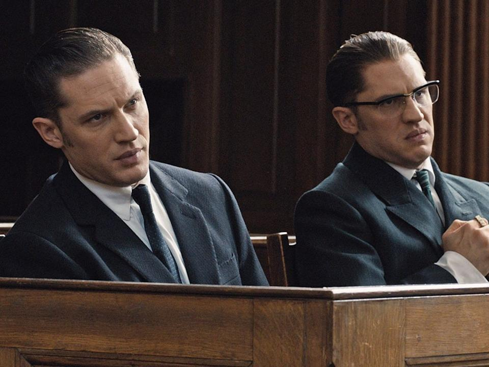 """Tom Hardy plays twin brothers in """"Legend."""""""