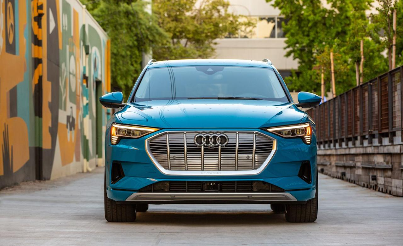 <p>Larger than Audi's Q5 SUV but smaller than the Q8, the mid-size e-tron costs $75,795 to start.</p>