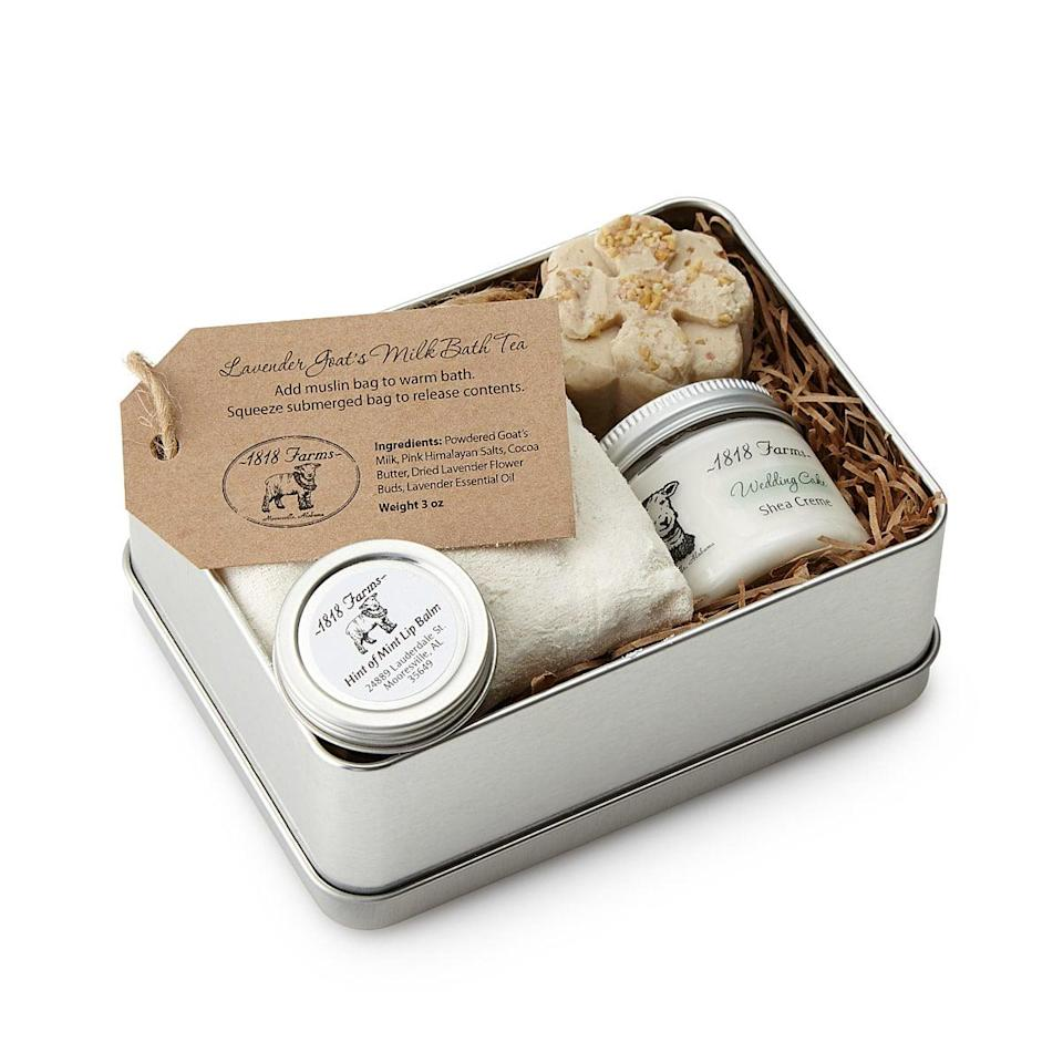 <p>The <span>Farm Fresh Spa Experience Tin</span> ($32) is full of handmade products for the perfect homegrown spa experience. From a cool bath bomb to luxurious body cream, this is the ultimate treat yourself moment.</p>