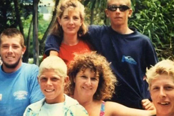 Mick (second from left) with his family. Photo: 7 News