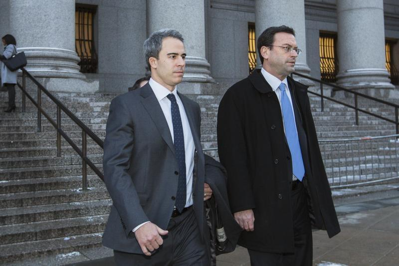 Steinberg, a top portfolio manager at Steven A. Cohen's SAC Capital Advisors hedge fund, departs Federal Court after being found guilty, in New York