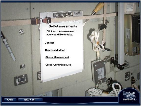 """Interactive """"modules"""" of treatment, self-assessment, training and resources could deliver mental health care to crews on board the International Space Station."""