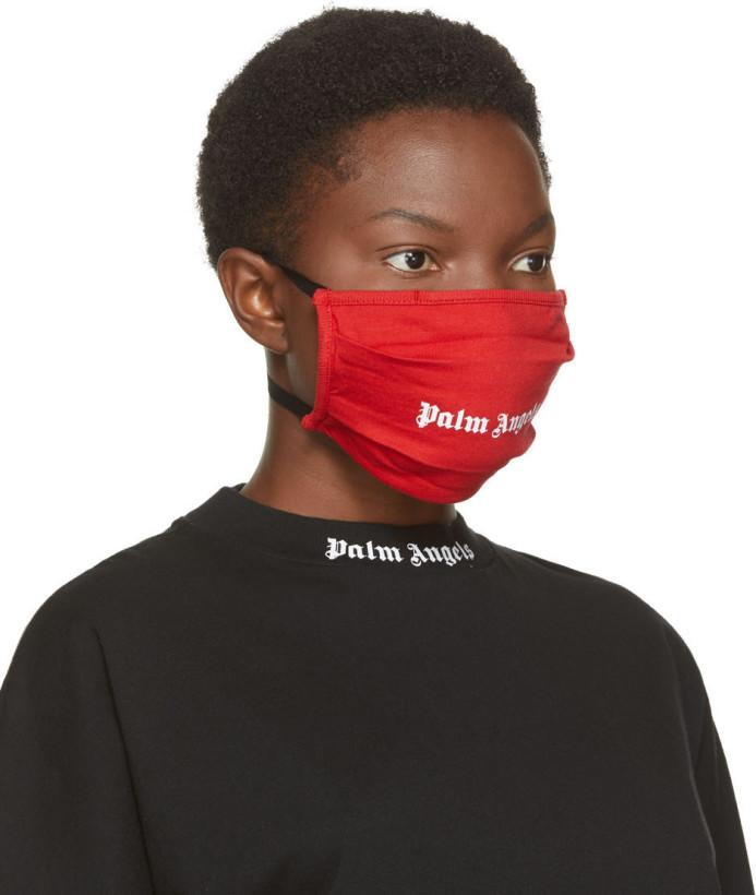 Palm Angels Red Logo Mask