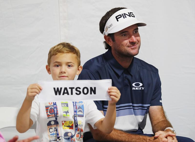 Caleb Watson, Bubba's son, was proud to share his last name with the Travelers winner.