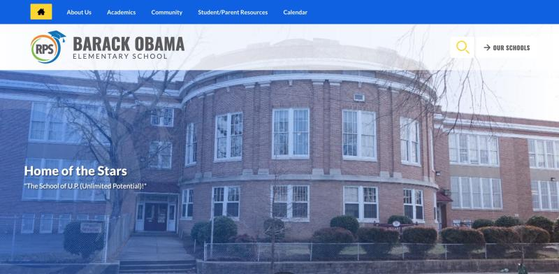 A Richmond, Va. elementary school formerly named after a Confederate general has been renamed to honor the first Black American president. (Credit: Barack Obama Elementary School Website)