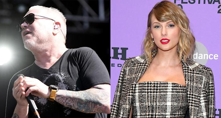 "Steve Harwell, the frontman of Smash Mouth, and his band are apparently not impressed with Taylor Swift's latest album, ""Folklore."" (Photo: Getty Images)"