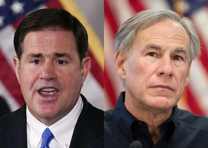 Last News Ducey and Abbott ask 48 other governors to send law enforcement to help patrol the US border