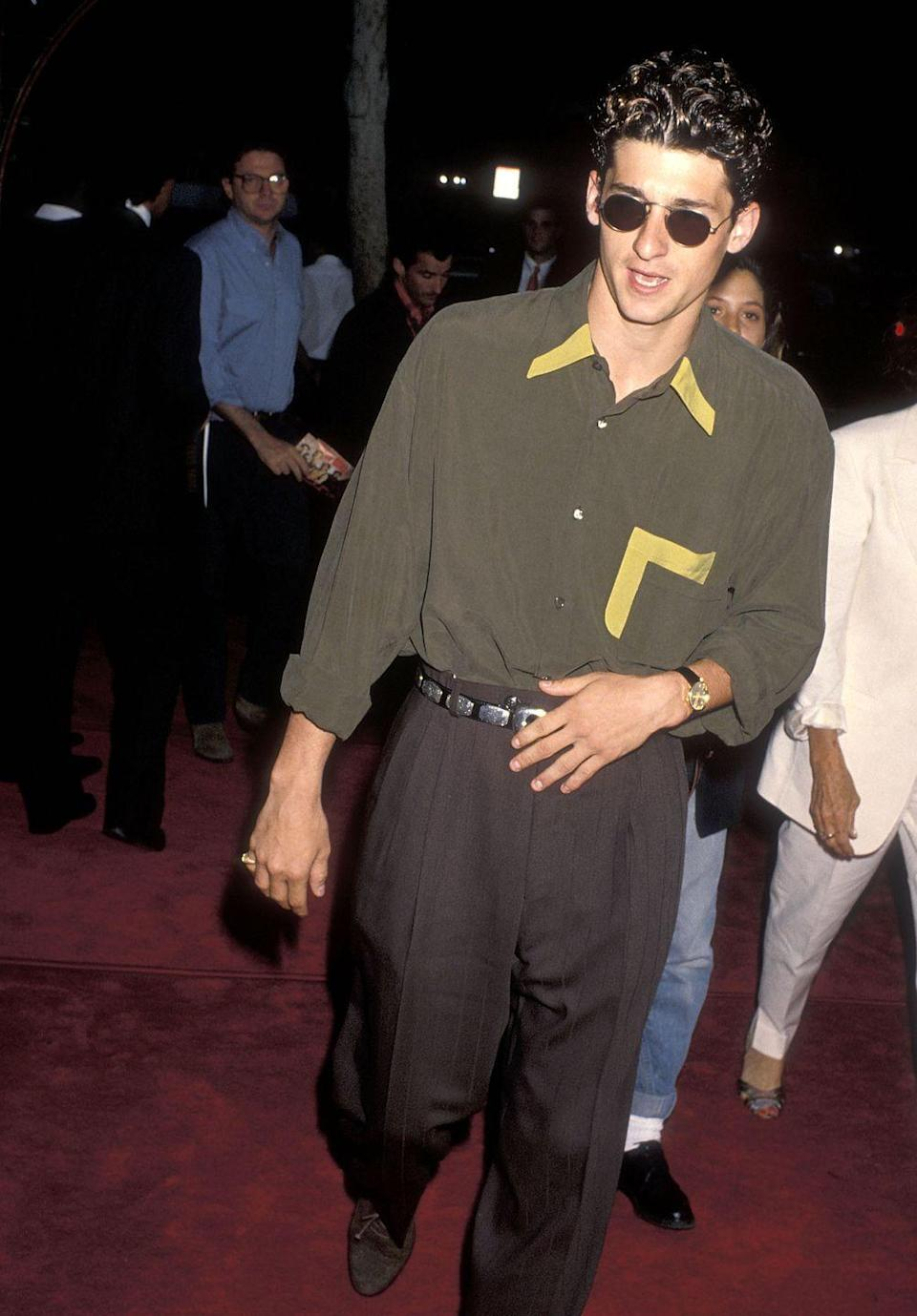 <p>When they say fashion is cyclical, this is what they mean. The loose, silky shirt and oversized pants are quintessentially '90s, but they are also reappearing on stylish men today. Take notes.</p>