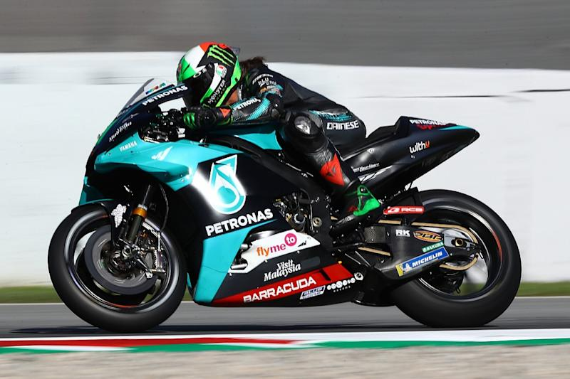 Morbidelli tops Catalan GP FP2 despite crash