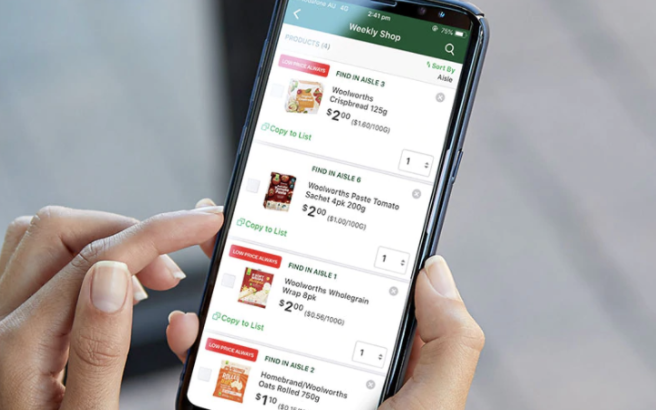 The new app has a bigger focus on rewards than the previous one. Source: Woolworths