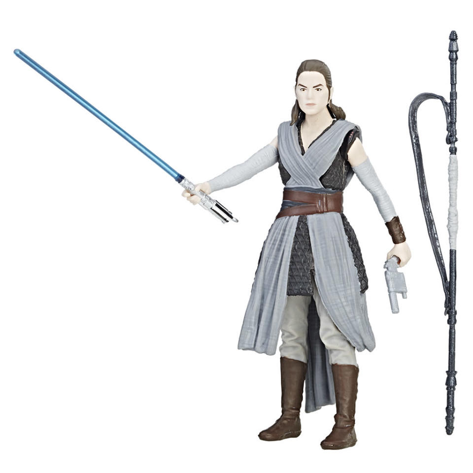 """<p>Each 3.75-inch figure features five points of articulation and comes with unique battle accessories… Activate an array of lights, sounds, and figure phrases specific to each character with Force Link gear (sold separately)! Compatible with all products in the Force Link line."""" $7.99 (Photo: Hasbro) </p>"""