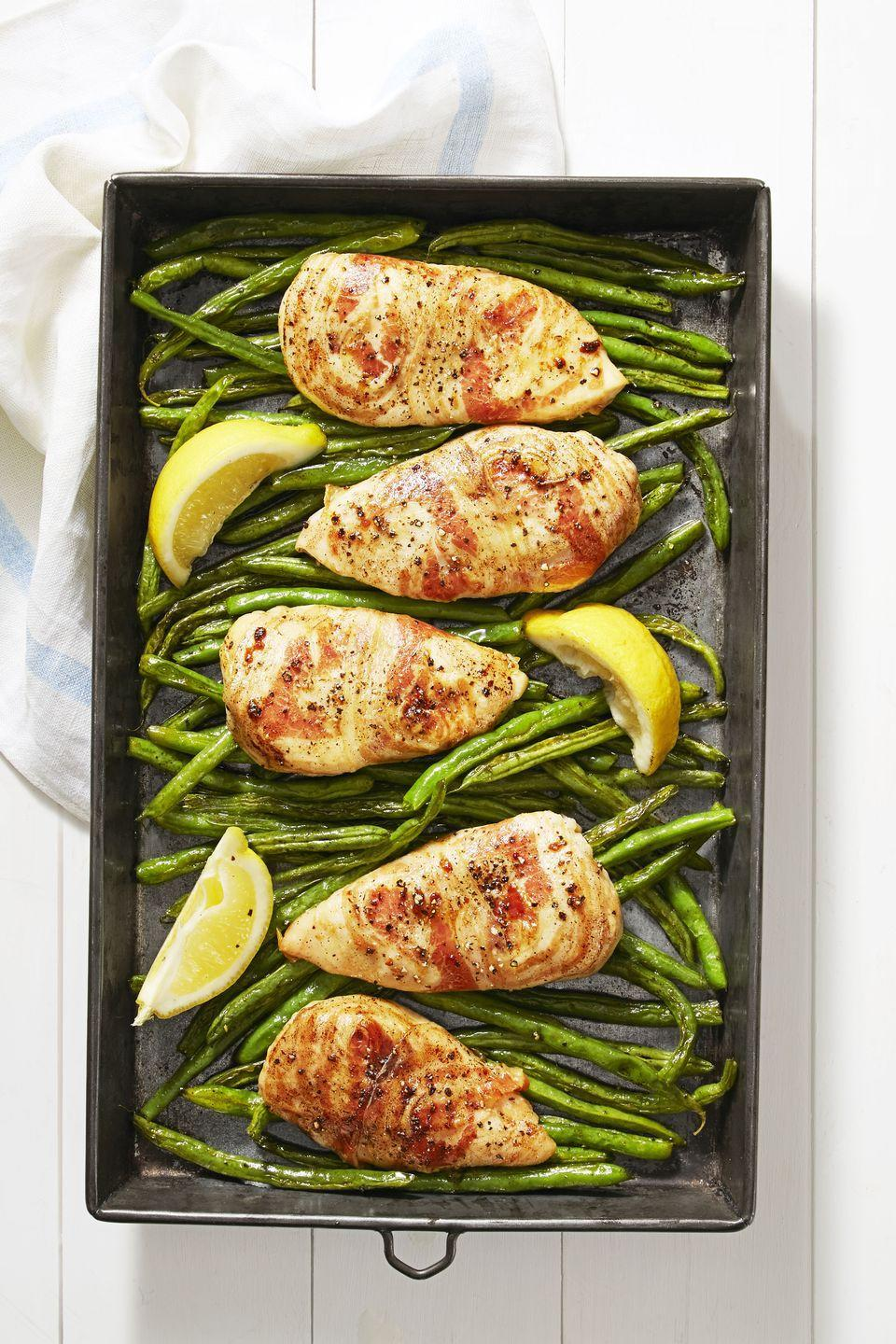 """<p>Because why wouldn't you wrap your chicken in pork?</p><p><em><a href=""""https://www.goodhousekeeping.com/food-recipes/a38872/pancetta-chicken-recipe/"""" rel=""""nofollow noopener"""" target=""""_blank"""" data-ylk=""""slk:Get the recipe for Pancetta Chicken »"""" class=""""link rapid-noclick-resp"""">Get the recipe for Pancetta Chicken »</a></em></p>"""