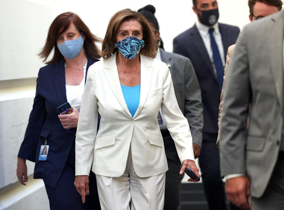 House Speaker Nancy Pelosi, D-Calif., says she's  confident the Democratic caucus will stay together to vote on the infrastructure and budget reconciliation bills.