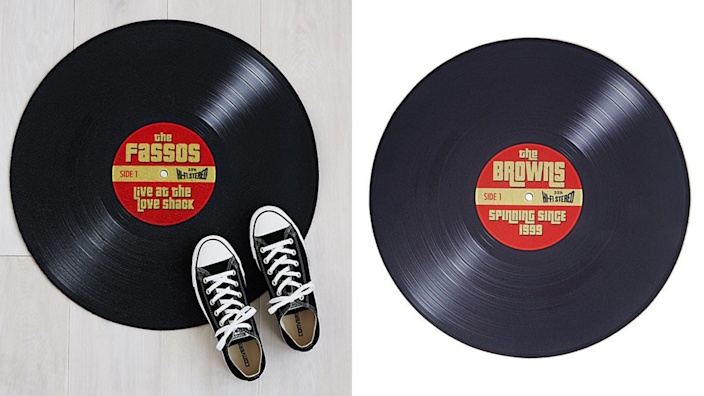 Best personalized gifts 2020: Personalized Record Doormat