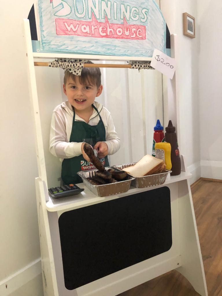 homemade bunnings sausage sizzle