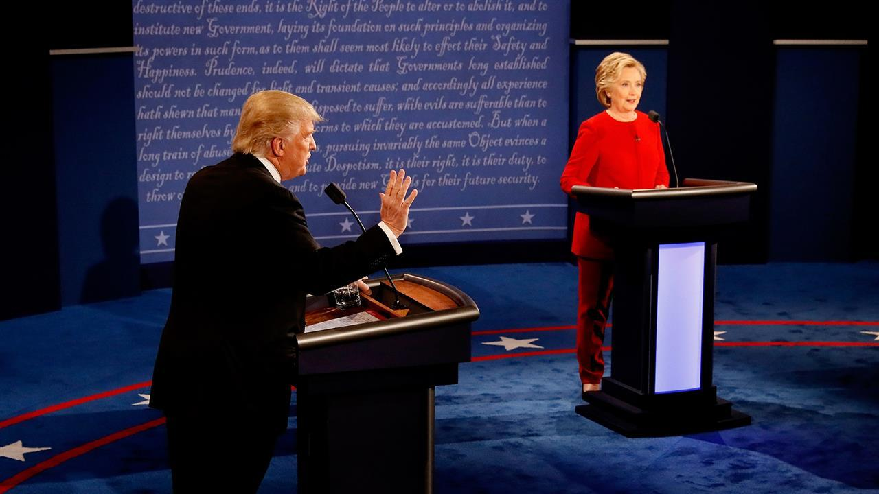 At the first presidential debate, Donald Trump and Hillary Clinton argued over Mideast policy including fighting ISIS, the role of NATO and U.S. actions in Iraq and Libya. Photo: Getty