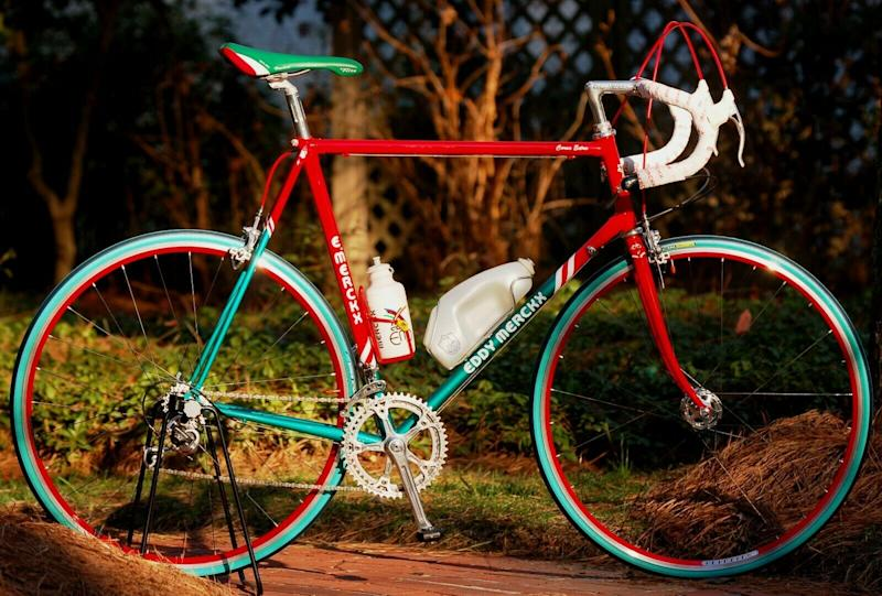 A replica 7-Eleven team-edition Eddy Merckx Corsa Extra bike available on eBay