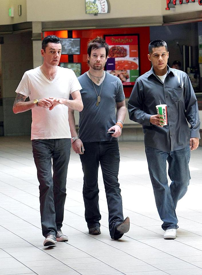 """American Idol"" finalist David Cook grabs lunch with friends at the food court in the Beverly Center shopping complex in Los Angeles. Stefan/<a href=""http://www.infdaily.com"" target=""new"">INFDaily.com</a> - May 15, 2008"