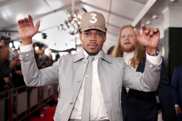 LOS ANGELES, CA - FEBRUARY 12: Hip-Hop Artist Chance The Rapper attends The 59th GRAMMY Awards at STAPLES Center on February 12, 2017 in Los Angeles, California. (Photo by Christopher Polk/Getty Images for NARAS)