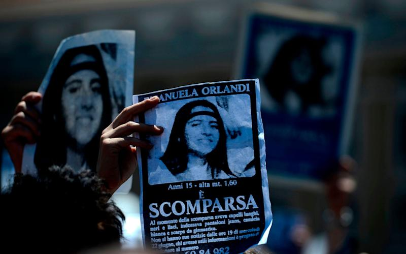 The Vatican is investigating the disappearance of 15-year-old Emanuela Orlandi 36 years ago - AFP